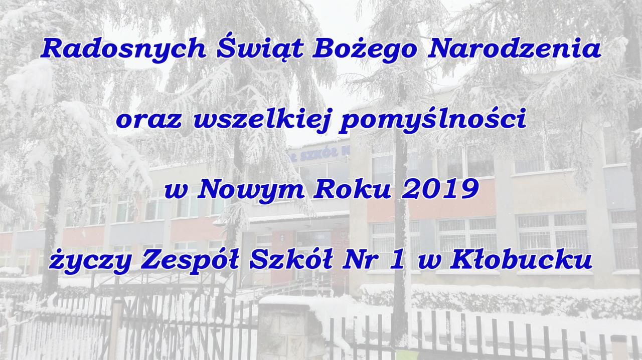 życzenia Na święta Bożego Narodzenia I Nowy Rok 2019 Zs Nr